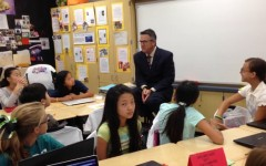 Our Superintendent Dr. Domene Visits Mrs. Chung's Class!